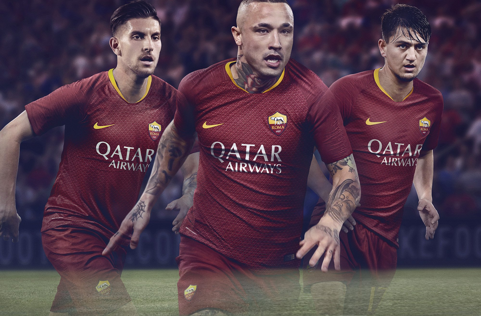 6a931b93d AS Roma published new Nike s home jersey for the 2018 19 season