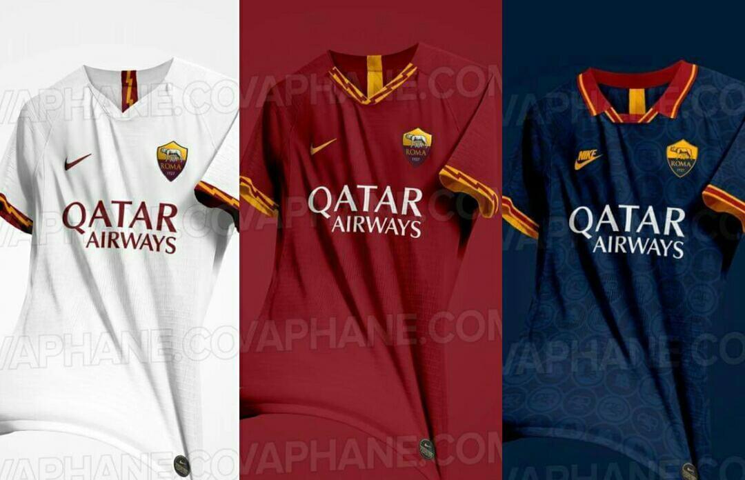 d87683461 Il sito turco esvaphane. com ha pubblicato tre immagini di quelle che  dovrebbero essere le divise della squadra giallorossa nella prossima  stagione
