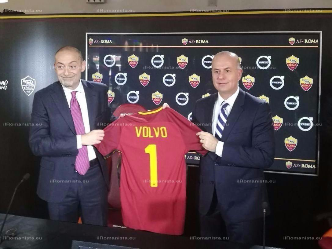 Accordo di partnership tra la Roma e Volvo Car