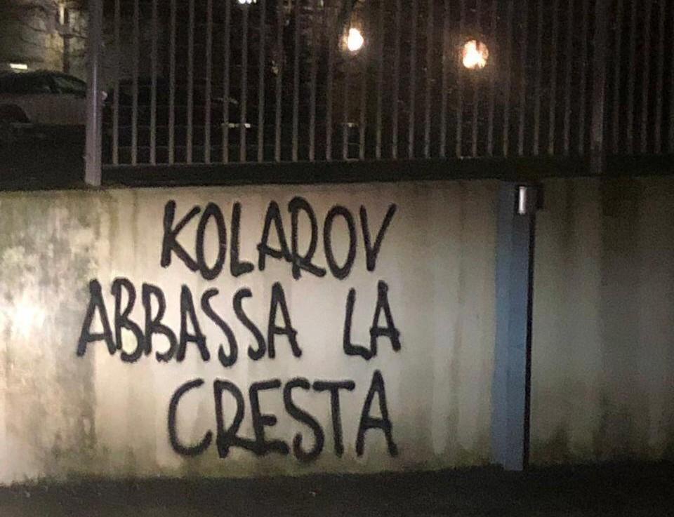 Foto Scritte Contro Kolarov Abbassa La Cresta