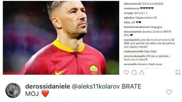 b051914eb9 FOTO - De Rossi difende Kolarov: