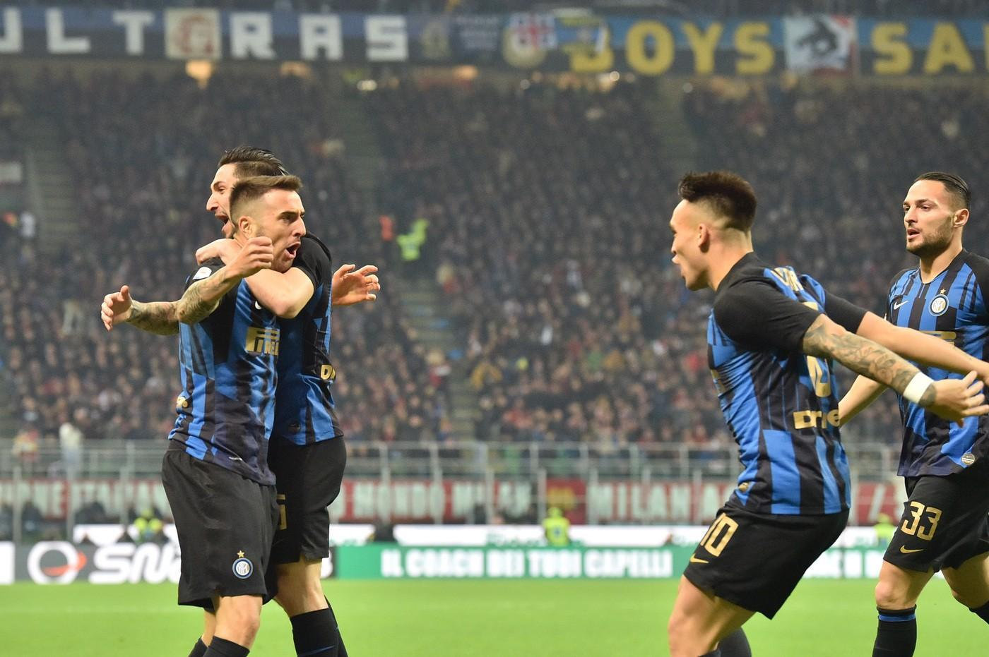 L'Inter batte 3-2 il Milan e torna terza in classifica. Spalletti espulso©LaPresse