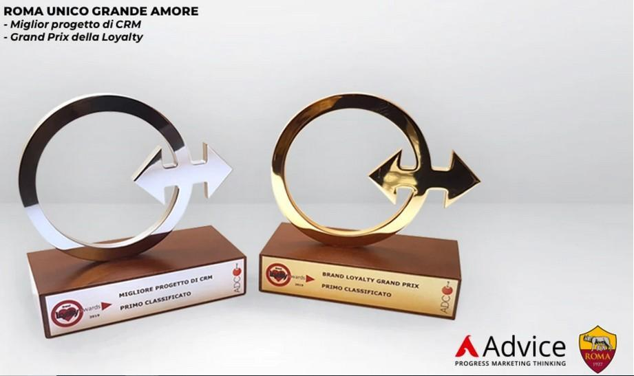 La Roma e Advice Group vincono il Brand Loyalty Award 2019