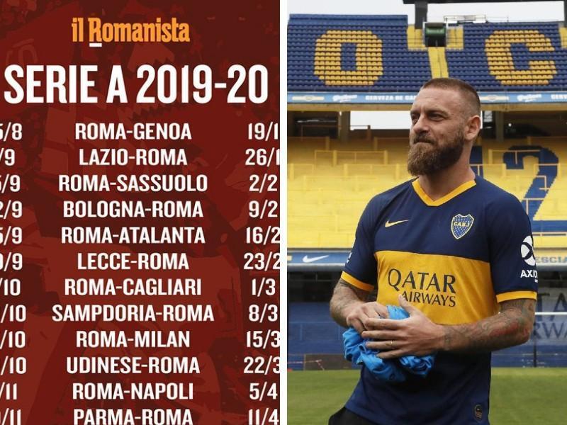 Calendario As Roma 2019 20.De Rossi Lo Scherzo Del Calendario Lazio Roma Nello Stesso