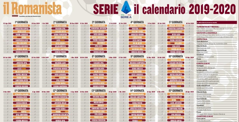 Calendario Asroma.Foto Seria A 2019 20 Scarica Il Calendario Completo De Il