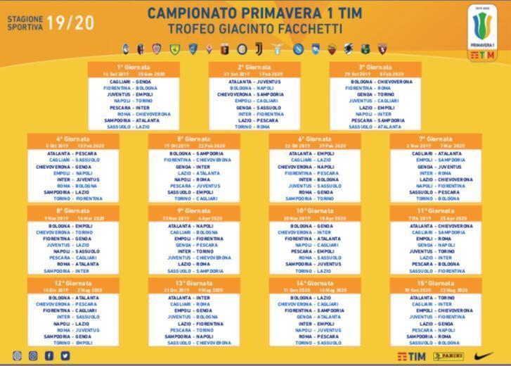 Calendario Novembre E Dicembre 2020.Primavera Si Parte Con Roma Chievo Derby Il 23 Novembre