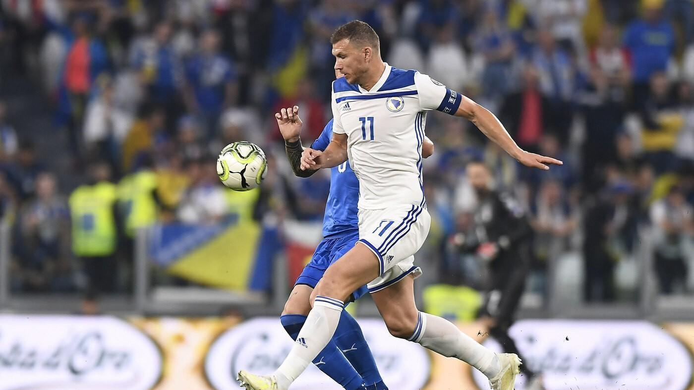 Capitan Dzeko ha trascinato la Bosnia in Lega A