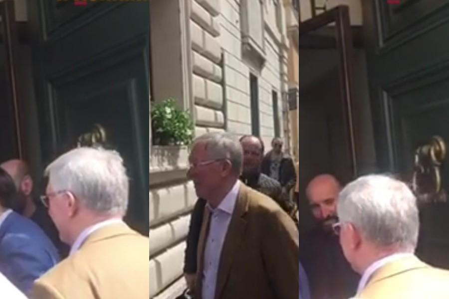 VIDEO - Sir Alex Ferguson incontra Monchi e Baldissoni all'Hotel De Russie