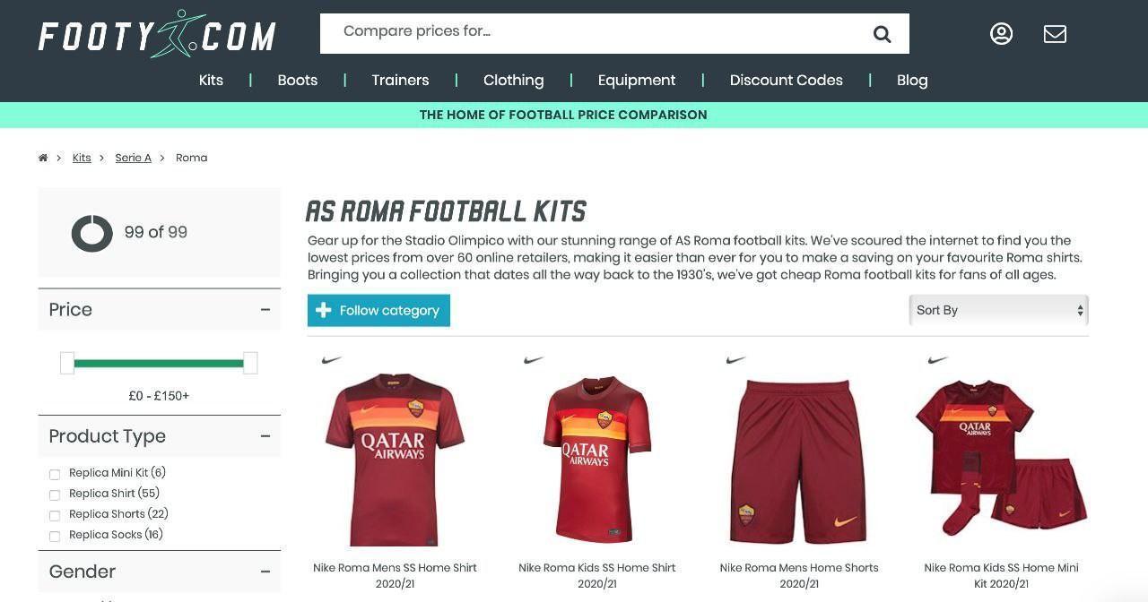FOTO - La prossima maglia della Roma è già in vendita su un sito web