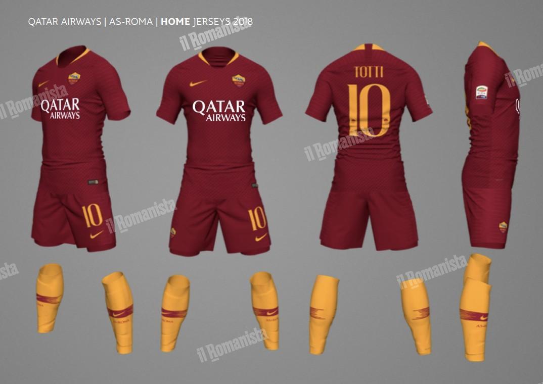completo calcio ROMA nuova
