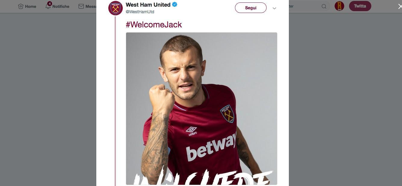 VIDEO - Jack Wilshere è un nuovo giocatore del West Ham