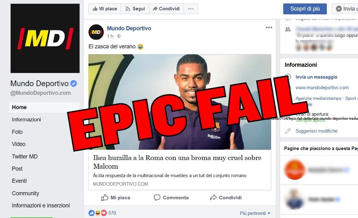L'epic fail dell'estate: Mundo Deportivo traduce male e diffonde la