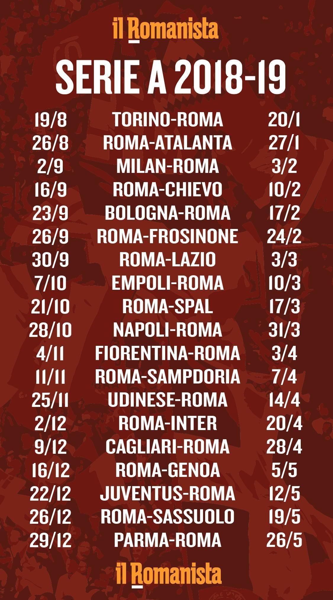 Calendario Oggi Serie A.Scarica Il Calendario Della Serie A E Lo Sfondo Per Il