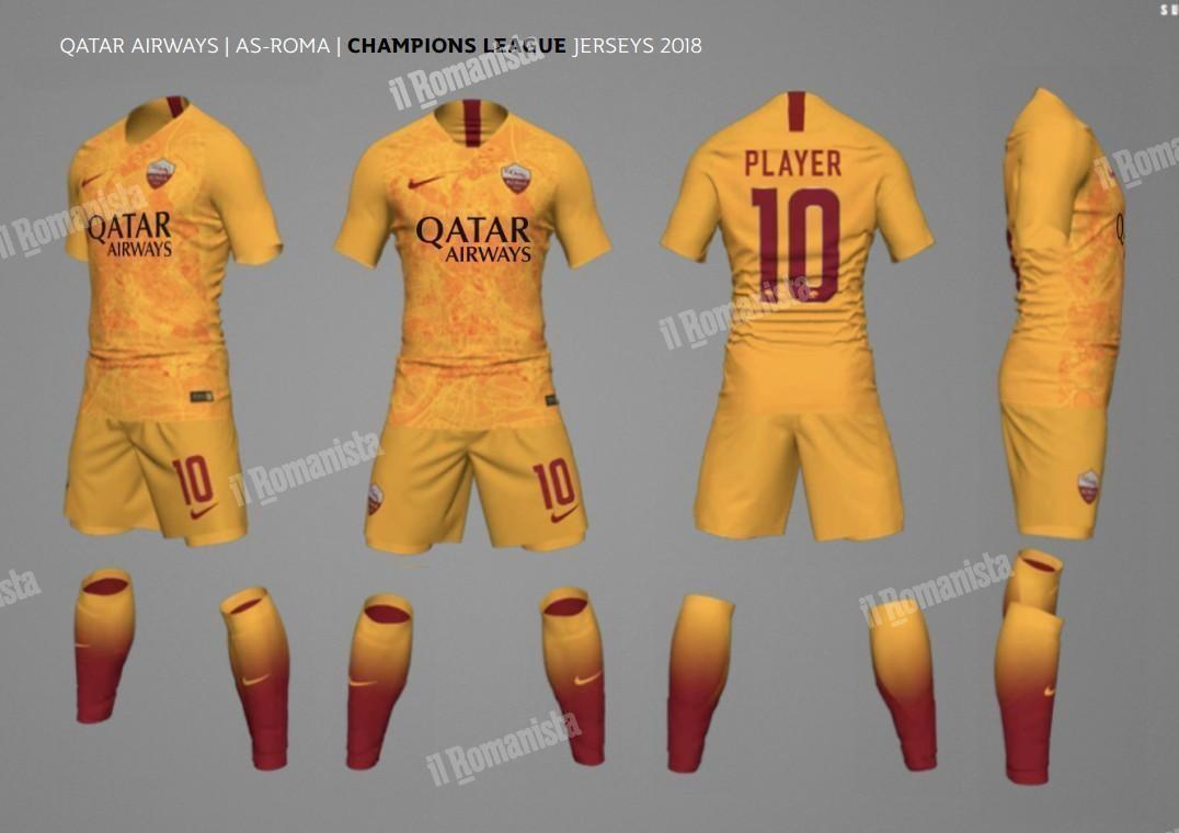 a591c0a59 FOTO - Ufficiale, la terza maglia della Roma sarà gialla
