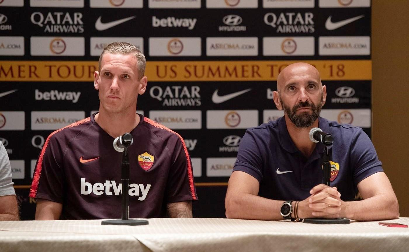 Olsen e Monchi in conferenza a Boston ©LaPresse
