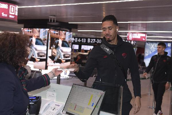 Chris Smalling a Fiumicino ©LaPresse