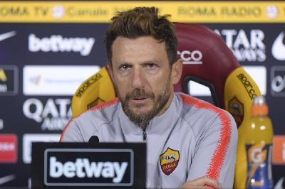 Eusebio Di Francesco in conferenza stampa domani alle 13.45