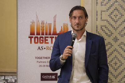 Francesco Totti nel workshop a Doha