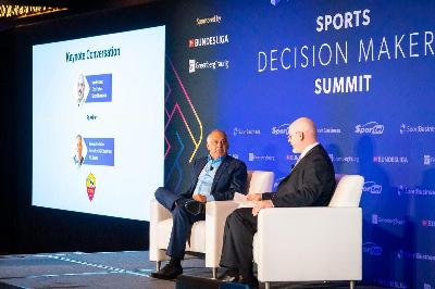 James Pallotta ed Eric Fisher, direttore di Sport Business