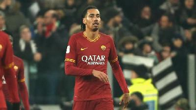 Chris Smalling durante Juventus-Roma