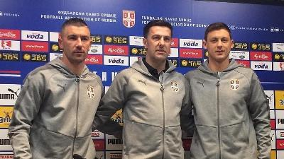 Kolarov assieme al Ct Krstajic e Matic