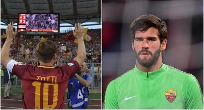 VIDEO - La Roma ricorda l'addio di Totti, Alisson: