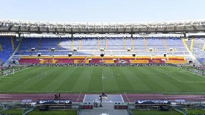 Roma-Juventus: il club invita all'Olimpico 250 eroi anti-Covid