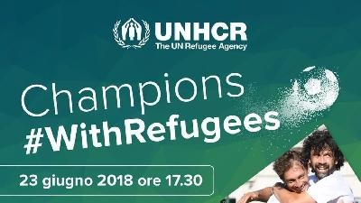Oggi alle 17:30 Champions #WithRefugees allo stadio Tre Fontane