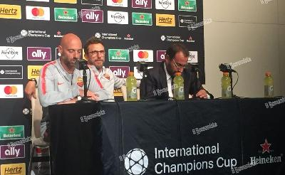 Di Francesco in conferenza stampa dopo la partita