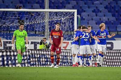Sampdoria-Roma 2-0: Adrien Silva e Jankto battono i giallorossi